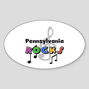 Pennsylvania Rocks Oval Sticker