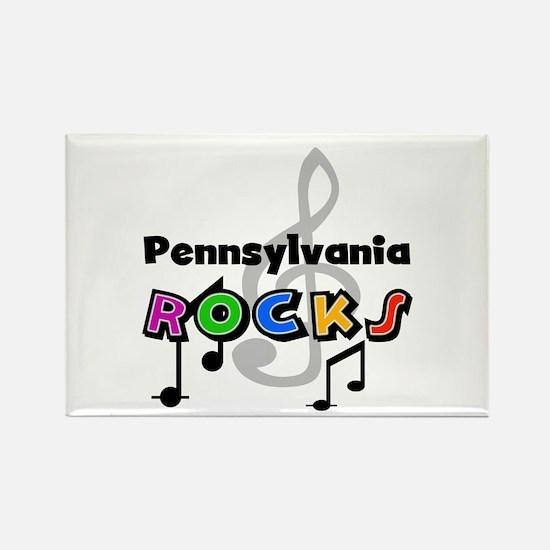 Pennsylvania Rocks Rectangle Magnet