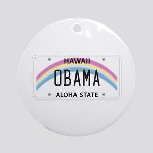 Hawaii Supports Obama Ornament (Round)