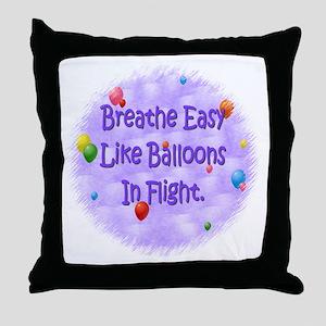 Breathe Easy--Help CF Throw Pillow