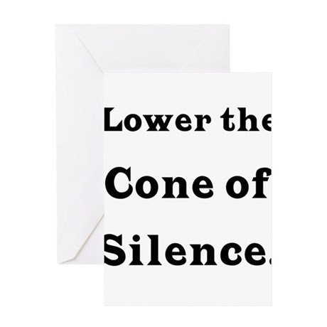 Cone of Silence Greeting Card