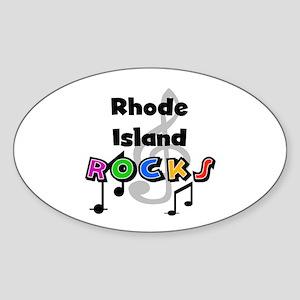 Rhode Island Rocks Oval Sticker