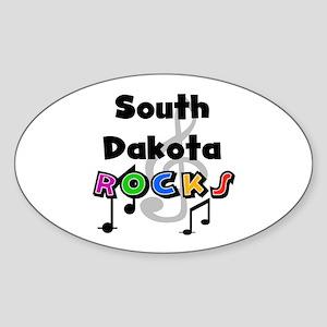 South Dakota Rocks Oval Sticker