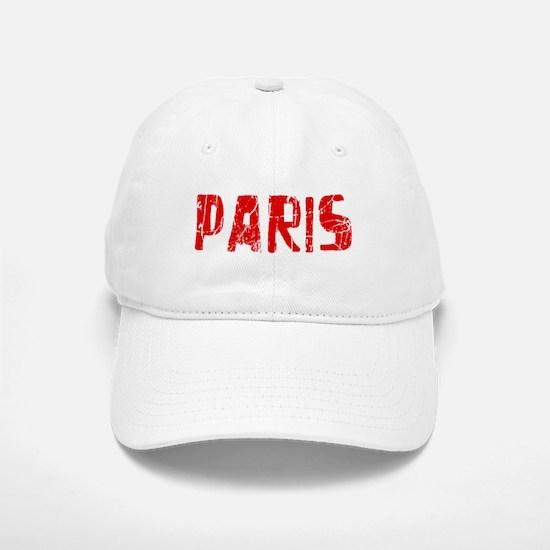 Paris Faded (Red) Baseball Baseball Cap
