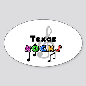 Texas Rocks Oval Sticker