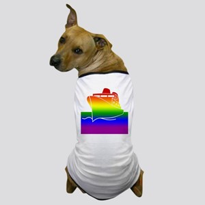 Rainbow Gay Pride Cruise Ship Dog T-Shirt