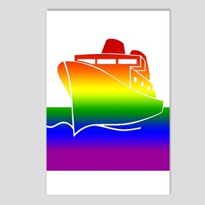 Rainbow Gay Pride Cruise Ship Postcards (Package o