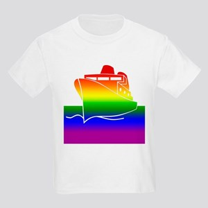 Rainbow Gay Pride Cruise Ship Kids T-Shirt