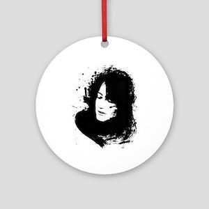 Martha Argerich Pianist Round Ornament