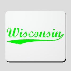 Vintage Wisconsin (Green) Mousepad