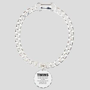 Twins poem Charm Bracelet, One Charm