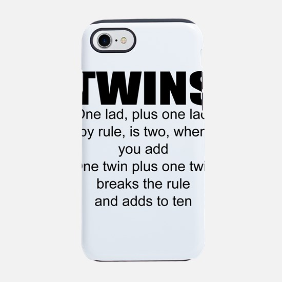 Twins poem iPhone 8/7 Tough Case