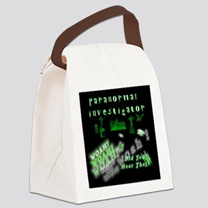 Paranormal Ghost Invesstigator Canvas Lunch Bag