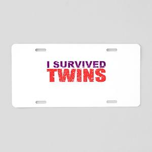 Twins survivor Aluminum License Plate