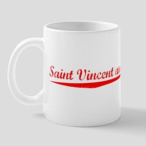 Vintage Saint Vinc.. (Red) Mug