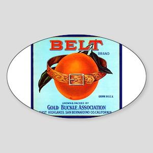 Belt Oval Sticker