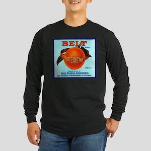 Belt Long Sleeve Dark T-Shirt