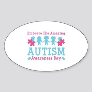 Autism Awareness Day Sticker (Oval)