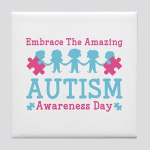 Autism Awareness Day Tile Coaster