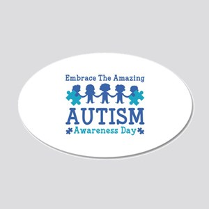 Autism Awareness Day 22x14 Oval Wall Peel
