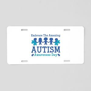 Autism Awareness Day Aluminum License Plate