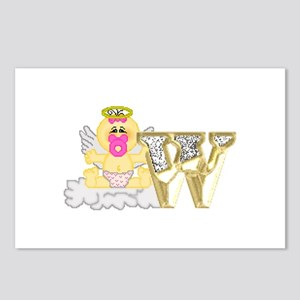Baby Initials - W Postcards (Package of 8)