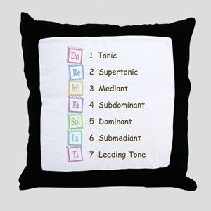 Tones of the Scale Throw Pillow