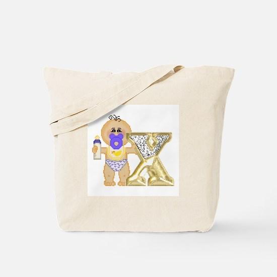 Baby Initials - X Tote Bag