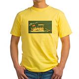 Pontoon Mens Classic Yellow T-Shirts