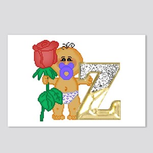 Baby Initials - Z Postcards (Package of 8)