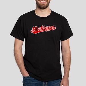 Retro Michigan (Red) Dark T-Shirt