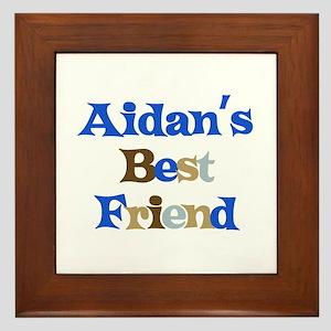 Aidan's Best Friend Framed Tile