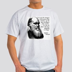 Darwin on Survival Light T-Shirt