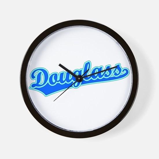 Retro Douglass (Blue) Wall Clock
