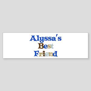 Alyssa's Best Friend Bumper Sticker