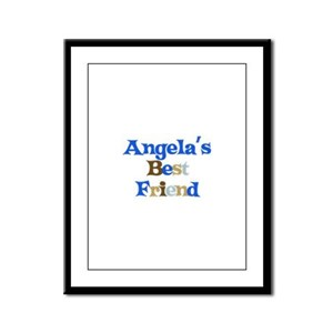 Angela's Best Friend Framed Panel Print