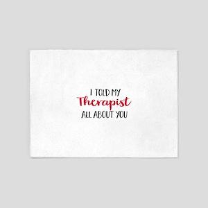Therapist 5'x7'Area Rug