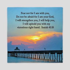 ISAIAH 41:10 VERSE Queen Duvet