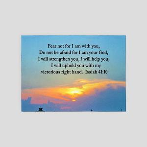 ISAIAH 41:10 VERSE 5'x7'Area Rug