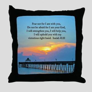ISAIAH 41:10 VERSE Throw Pillow