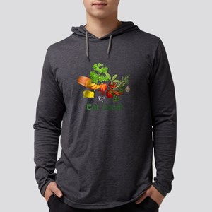 Eat Local Mens Hooded Shirt
