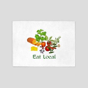 Eat Local 5'x7'Area Rug