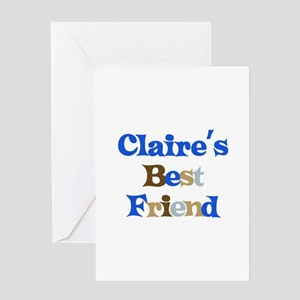 Claire's Best Friend Greeting Card