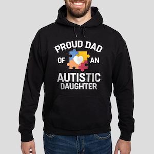 Proud Dad Of An Autistic Daughter Hoodie (dark)