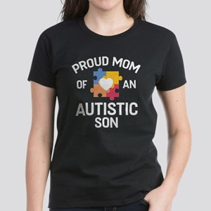 Proud Mom Of An Autistic Son Women's Dark T-Shirt