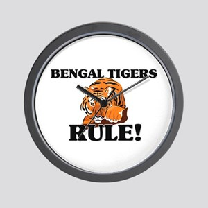 Bengal Tigers Rule! Wall Clock