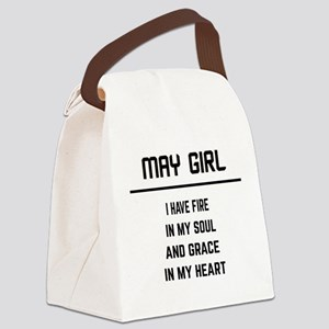May Girl Canvas Lunch Bag