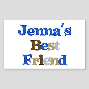 Jenna's Best Friend Rectangle Sticker