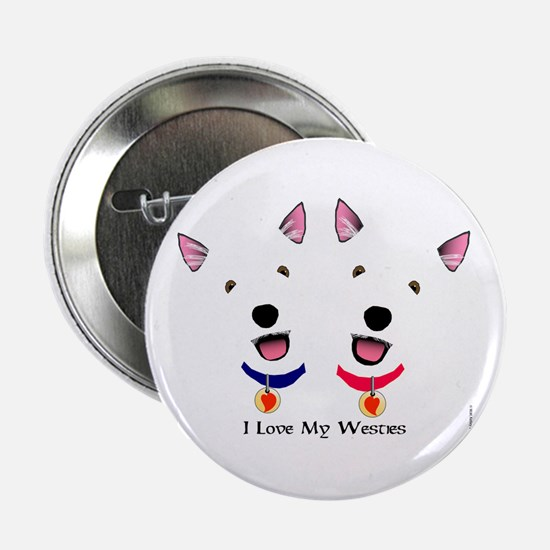 Westie Love X 2 Button
