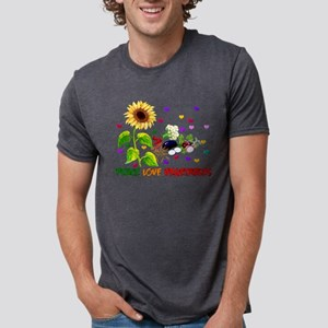 Peace Love Vegetables Mens Tri-blend T-Shirt
